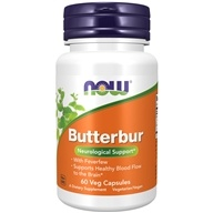 NOW Foods - Butterbur with Feverfew - 60 Vegetarian Capsules (733739046024)