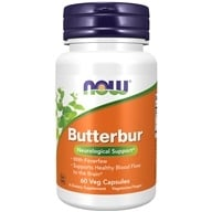 Image of NOW Foods - Butterbur with Feverfew - 60 Vegetarian Capsules