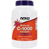 NOW Foods - C-1000 Buffered C Sustained Release - 180 Tablets - $15.49