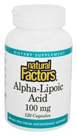 Natural Factors - Alpha-Lipoic Acid 100 mg. - 120 Capsules, from category: Nutritional Supplements