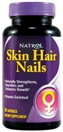 Natrol - Skin Hair Nails - 60 Capsules by Natrol