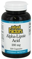 Image of Natural Factors - Alpha-Lipoic Acid 200 mg. - 120 Capsules