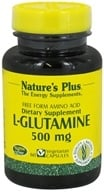 Nature's Plus - L-Glutamine Free Form Amino Acid 500 mg. - 60 Vegetarian Capsules