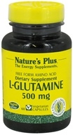 Image of Nature's Plus - L-Glutamine Free Form Amino Acid 500 mg. - 60 Vegetarian Capsules