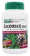 Image of Nature's Plus - Herbal Actives Licorice (DGL) 500 mg. - 60 Vegetarian Capsules