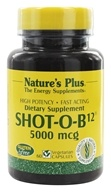Nature's Plus - Shot-O-B12 5000 mcg. - 60 Vegetarian Capsules - $34.31