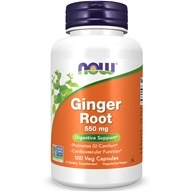 Image of NOW Foods - Ginger Root 550 mg. - 100 Capsules