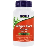 NOW Foods - Ginger Root Extract 250 mg. - 90 Vegetarian Capsules - $6.49