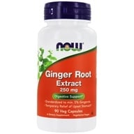 NOW Foods - Ginger Root Extract 250 mg. - 90 Vegetarian Capsules, from category: Herbs