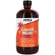 NOW Foods - Liquid Multi Vegetarian Non-GE Wild Berry - 16 oz. - $11.49