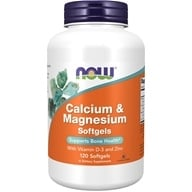 NOW Foods - Calcium-Magnesium with Vitamin D and Zinc - 120 Softgels (733739012517)