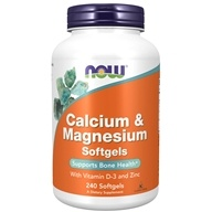 Image of NOW Foods - Calcium-Magnesium with Vitamin D and Zinc - 240 Softgels