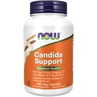 NOW Foods - Candida Support - 180 Vegetarian Capsules (733739033192)