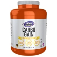 NOW Foods - Carbo Gain 100% Complex Carbohydrate - 8 lbs., from category: Sports Nutrition