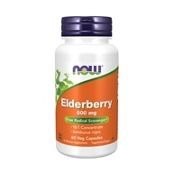 NOW Foods - Elderberry Extract 500 mg. - 60 Vegetarian Capsules (733739046673)