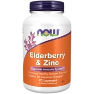 NOW Foods - Elderberry and Zinc - 90 Lozenges (733739032997)