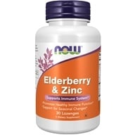 Image of NOW Foods - Elderberry and Zinc - 30 Lozenges