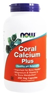Image of NOW Foods - Coral Calcium Plus - 250 Vegetarian Capsules