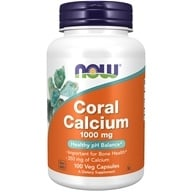 NOW Foods - Coral Calcium 1000 mg. - 100 Vegetarian Capsules, from category: Vitamins & Minerals