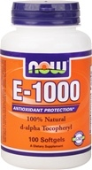 NOW Foods - E-1000 D-Alpha Tocopherol - 100 Softgels - $22.79