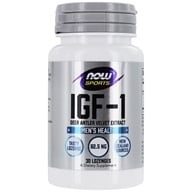 NOW Foods - IGF-1 Deer Antler Velvet Extract - 30 Lozenges