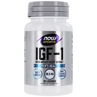 NOW Foods - IGF-1 Deer Antler Velvet Extract - 30 Lozenges, from category: Sports Nutrition
