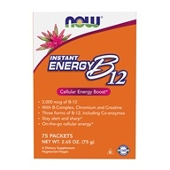 NOW Foods - Instant Energy B12 2000 mcg. - 75 Packet(s), from category: Vitamins & Minerals