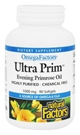 Image of Natural Factors - Ultra Prim OmegaFactors Evening Primrose Oil 1000 mg. - 90 Softgels
