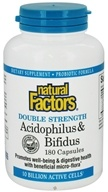 Natural Factors - Acidophilus & Bifidus Double Strength - 180 Capsules - $22.77