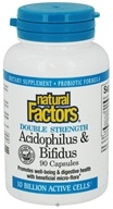 Natural Factors - Acidophilus & Bifidus with Goat Milk Double Strength - 90 Capsules