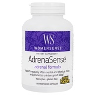 Image of Natural Factors - WomenSense AdrenaSense Anti-Stress Adrenal Formula - 120 Vegetarian Capsules