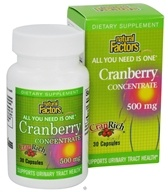 Natural Factors - CranRich All You Need Is One Cranberry Concentrate 500 mg. - 30 Capsules CLEARANCE PRICED