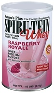 Image of Nature's Plus - Spiru-Tein WHEY High Protein Energy Meal Raspberry Royale - 1.05 lbs.