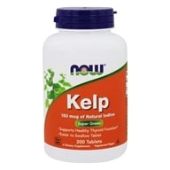 Image of NOW Foods - Kelp Iodine Vegetarian 150 mcg. - 200 Tablets