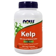 NOW Foods - Kelp Caps Green Superfood 325 mcg. - 250 Vegetarian Capsules - $8.49