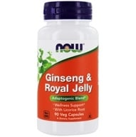 NOW Foods - Ginseng and Royal Jelly 300 mg. - 90 Capsules (733739040077)