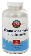 Kal - Calcium Magnesium Extra Strength 1000mg/500mg - 250 Tablets