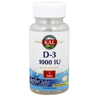 Kal - Vitamin D-3 1000 IU - 100 Softgels - $7.79