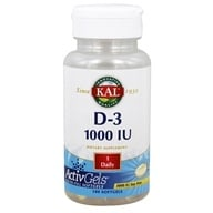 Kal - Vitamin D-3 1000 IU - 100 Softgels by Kal