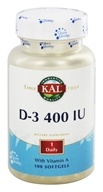 Kal - Vitamin D 400 IU - 100 Softgels