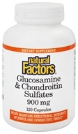 Image of Natural Factors - Glucosamine & Chondroitin Sulfates 900 mg. - 120 Capsules