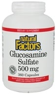 Natural Factors - Glucosamine Sulfate 500 mg. - 360 Capsules (068958265612)
