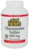 Natural Factors - Glucosamine Sulfate 500 mg. - 360 Capsules - $17.55