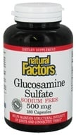Image of Natural Factors - Glucosamine Sulfate Sodium Free 500 mg. - 180 Capsules