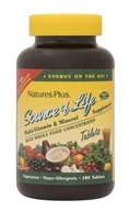 Nature's Plus - Source Of Life Multi-Vitamin & Mineral Supplement with Whole Food Concentrates - 180 Tablets (097467030589)