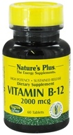 Nature's Plus - Vitamin B-12 Sustained Release 2000 mcg. - 60 Tablets (097467017306)