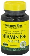 Nature's Plus - Vitamin B-6 Sustained Release 500 mg. - 60 Tablets - $12.64