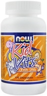 Image of NOW Foods - Kid Vits Multi-Vitamin Orange Splash - 120 Chewable Tablets