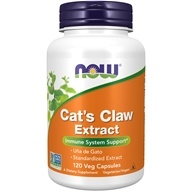 "NOW Foods - Cat's Claw Extract 10:1 Concentrate/1.5% Standardized Extract - 120 Vegetarian Capsules (formerly Cat's Claw ""5000""), from category: Herbs"