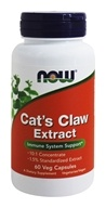 NOW Foods - Cat's Claw Extract 10:1 Concentrate/1.5% Standardized Extract - 60 Vegetarian Capsules (formerly Cat's Claw 5000)